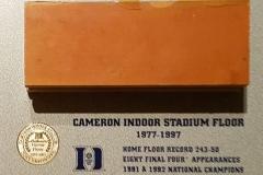 Duke University Cameron Indoor Stadium Floor Piece